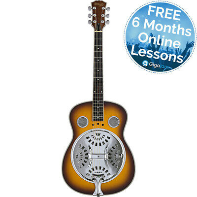 Stagg SR607 SB Acoustic Resonator Guitar - 6 Months Free Online Lessons