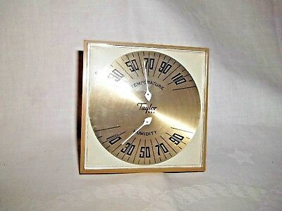 Vintage Taylor Temperature and  Humidity Gauge Retro Thermometor Set