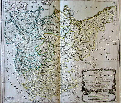 Germany Saxony Brandenburg Silesia Pomerania 1766 Brion decorative old map