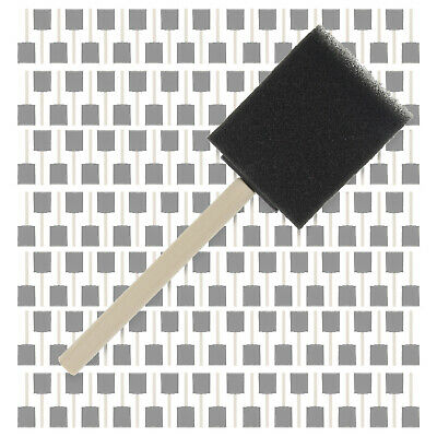 """480 Pack - 2""""  Foam Sponge Paint Brush Set Wood Handle Craft Touch Up Stain"""