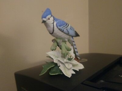 Vintage Lenox Bird Figurine -1998 Christmas Blue Jay