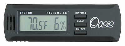 NEW Oasis Digital Hygrometer and Thermometer With Metal Clip OH-2