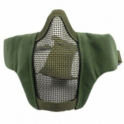 face mask steel half face design olive drab green bravo tac gear rothco 857