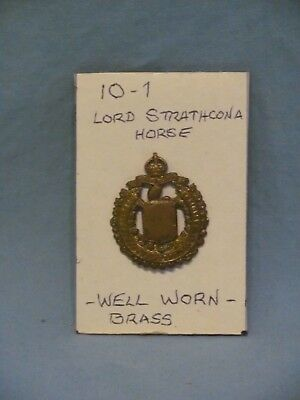 10-1 Canadian WWI C.E.F. Lord Strathcona Horse Cap Badge