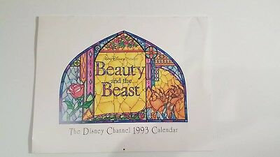 Disney Beauty and the Beast Disney Channel 1993 Calendar