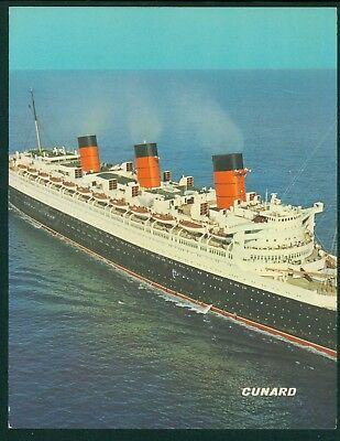 10 Queen Mary Cunard Luxury Liner Menus 1967 White Star Line Blue Riband Ship