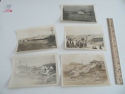 Lot of Vintage Photos of a Military Base hit by Tornado Army Barracks