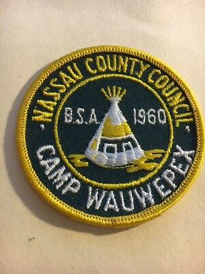"""Nassau County Council   1960  Camp Wauwpex    3""""    Round  Patch"""