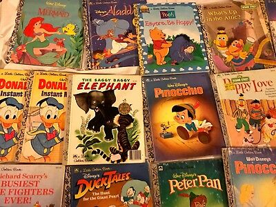 Lot Of 50 Childrens Books Vintage 60s 70s Little Golden Tell A Tale