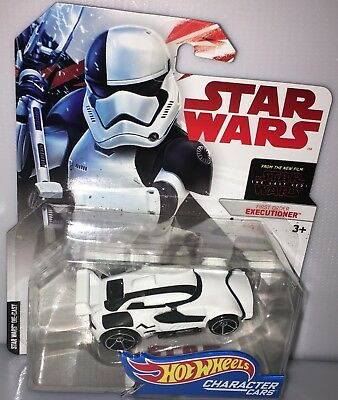 Hot Wheels Character Cars Star Wars First Order Executioner Stormtrooper Jedi
