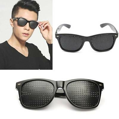 Unisex Pinhole Hole Eyeglasses Anti-Fatigue Eyesight Sun Glasses Vision Care