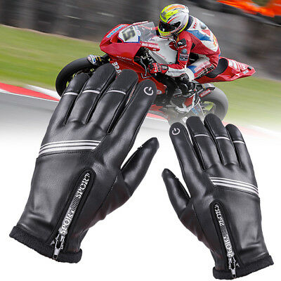 Mens Leather Gloves Touch Screen Thermal Thinsulate Lined Driving Warm Gloves ND