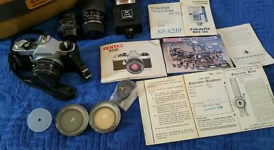 pentax mg 35mm vintage camera and accessories