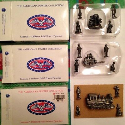 Americana Collection*Pewter figurines*lot of 3 boxes*AH 30*AH71*AH72