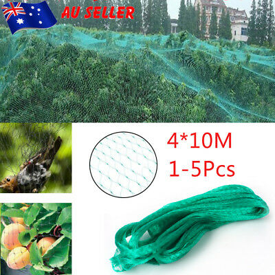 4*10m Bird Netting Net Protect Fruit Trees Vegetables Orchard from Pest Bird 5X
