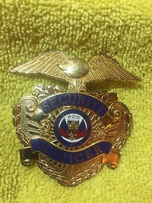 Smith & Warren Security Officer Hat Badge