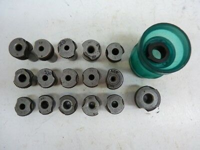 """16 Slip Fit Number Letters 1/2"""" & 3/4"""" OD Drill Bushings and Drill Cup"""