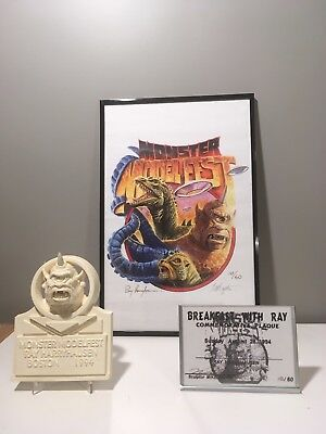 Ray Harryhausen Autographed / Signed Print And Resin Cyclops Kit - Eggleton