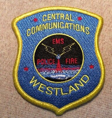 MI Westland Michigan Central Communications Police/Fire/EMS Patch