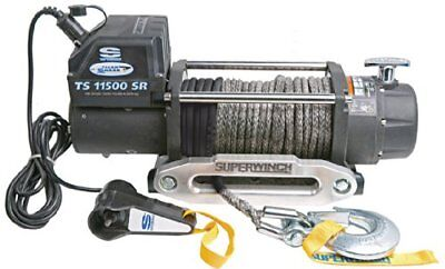 Superwinch 1511201 Tiger Shark 12V Winch with Aluminum Hawse and Synthetic Rope