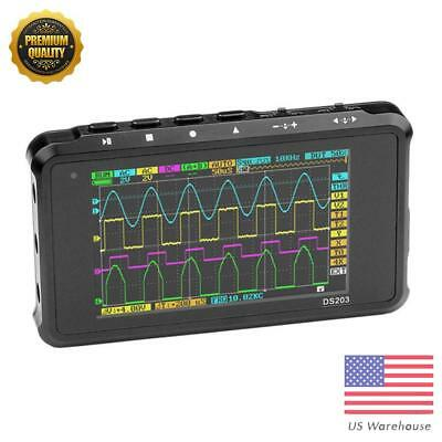 DS203 Handheld 4-channel Digital Oscilloscope Full Color TFT LCD 72MS/s Scope