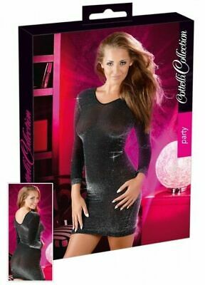 Cottelli Collection Party Glanzkleid schwarz S/M Kleid Dress Erotik Bekleidung