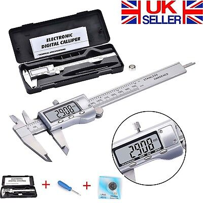 Digital Stainless Steel Vernier Caliper with Extra Large LCD Screen 6'' 150mm