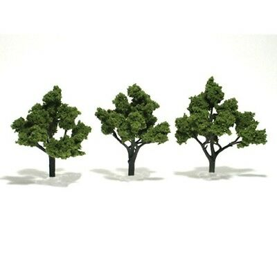 "Woodland Scenics TR1509 Deciduous Trees (3) Light Green 4""- 5"" Ready-Made"