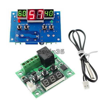 W1209/W1401 DC 12V Red LED Digital Thermostat Temperature Controller -9-110°C UK