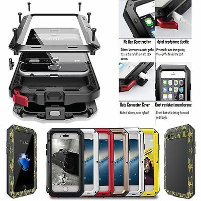 Aluminum Gorilla Glass Waterproof Metal Phone Case Cover For Samsung Galaxy S7