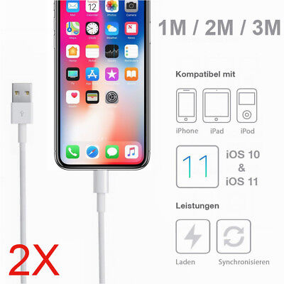 2x 3M Apple USB 3.1 Data Sync Fast Charger Cable For iPad iPhone XS MAX XR 8 7 6