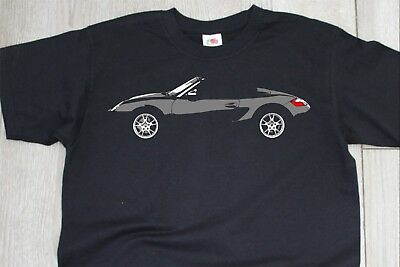 Boxster S 986 Side Profile T-Shirt Enthusiast TA2044