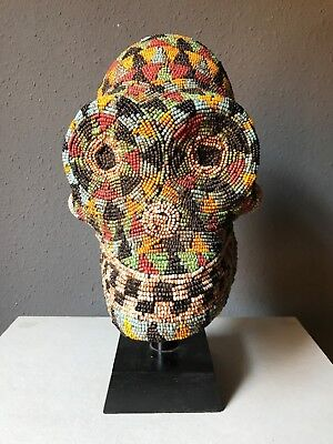 "Old ""war head trophy"" Bamileke"
