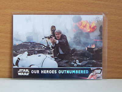 Star Wars The Force Awakens series 2 Our heroes outnumbered #69 Holofoil card