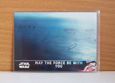 Star Wars Force Awakens series 2 May The Force be with you #100 Holofoil card