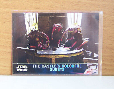 Star Wars Force Awakens series 2 The Castle's colorful guests #51 Holofoil card