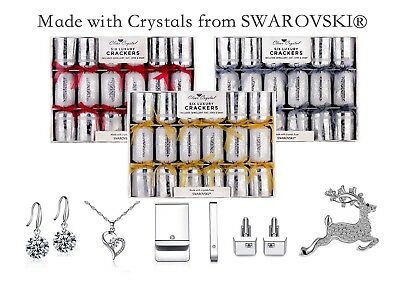 6 Luxury Christmas Crackers Made With Crystals From Swarovski® - Clear Crystal