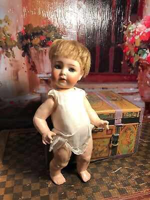 "~ Too Cute!!! Antique #1294 Toddler Doll 9"" Tall ~"