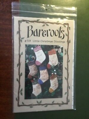 """Bareroots  pattern called """"#59 Little Christmas Stockings"""""""