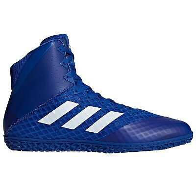 buy online 9520a 17ca7 adidas Mat Wizard 4 Mens Adult Wrestling Trainer Shoe Boot Blue