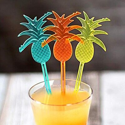 PINEAPPLE COCKTAIL STIRRERS Tropical Swizzle Sticks Dinner Party Mixer Drink Bar