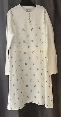 Italian Nightdress/ camisole with Embroidery, Size L. 100% Cotton NEW