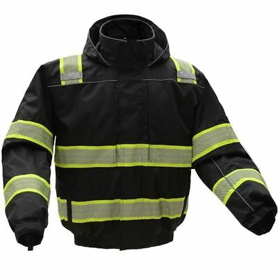 GSS Safety ONYX 3-in-1 Black Waterproof Ripstop Bomber Jacket