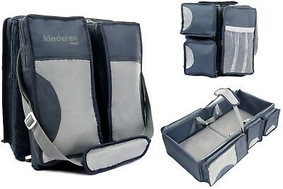 Kids Wickeltasche Baby Kinderwagentasche Windelbag Touristenbett Gross 4in1