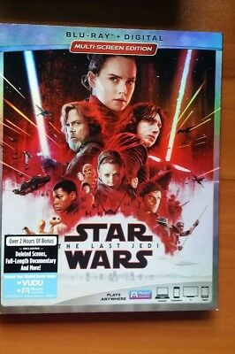 Star Wars:  THE LAST JEDI - BR + DIGITAL CODE- with sleeve
