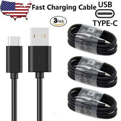 3 Pack For Samsung S8 S9 Plus Note 9 8 Type C Cable USB-C Fast Charging Cord USA