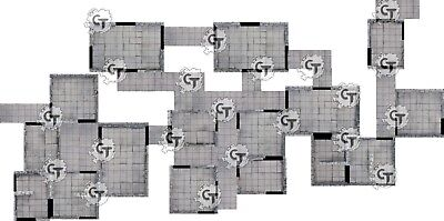 Modular Dungeon Tiles Set, Digital Download D&D RPG Dragons Dnd Pathfinder 28mm