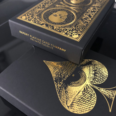 David Blaine Private Reserve SKULL AND BONES Playing Cards by EPCC  Split Spades