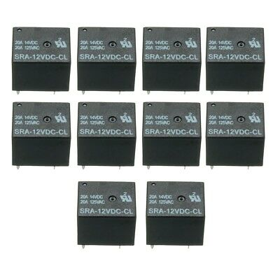 30pcs 5 Pin Relay 12V DC 20A Coil Power Relay SRA-12VDC-CL