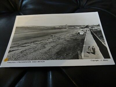 Thurso Promenade and Beach Real Photo Postcard Caithness